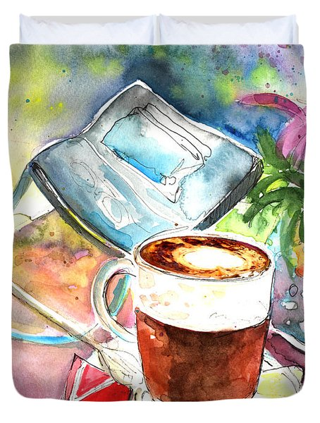Latte Macchiato In Italy 01 Duvet Cover by Miki De Goodaboom