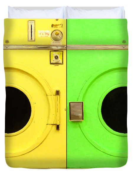 Laundromat Drying Machines Two 20130801a Duvet Cover by Wingsdomain Art and Photography