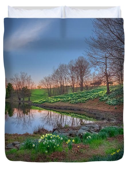 Laurel Ridge Sunset Duvet Cover by Bill  Wakeley