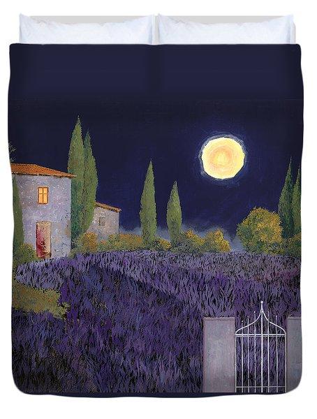 Lavanda Di Notte Duvet Cover by Guido Borelli