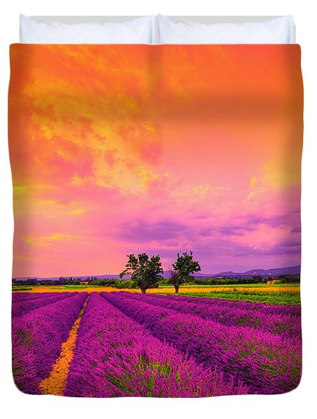 Lavender Sunset Duvet Cover by Midori Chan