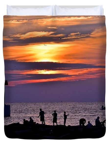 Lavender Sunset Duvet Cover by Frozen in Time Fine Art Photography