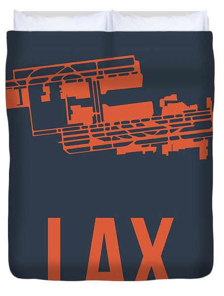 Lax Airport Poster 3 Duvet Cover by Naxart Studio