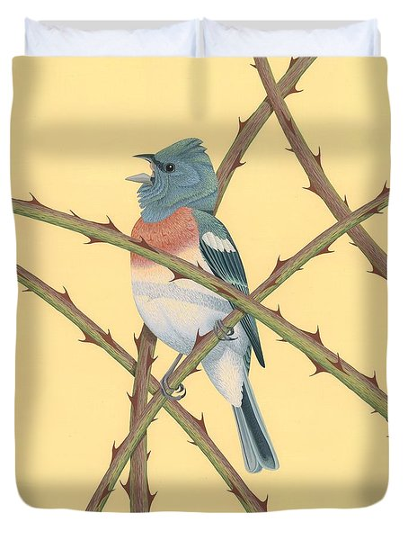 Lazuli Bunting Duvet Cover by Nathan Marcy