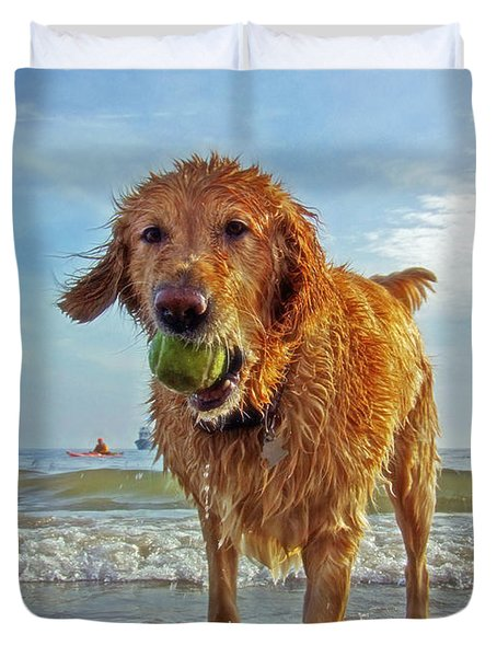 Lazy Summer Days at the Beach Duvet Cover by Nishanth Gopinathan
