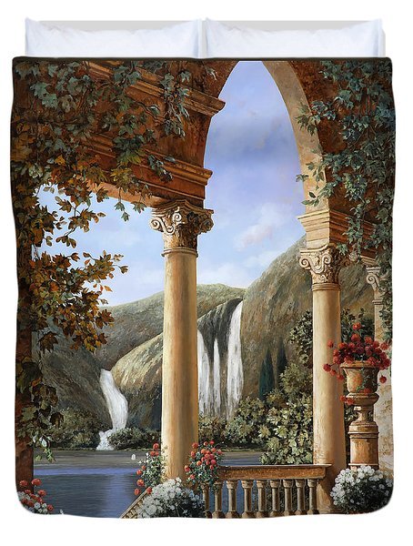 Le Cascate Duvet Cover by Guido Borelli