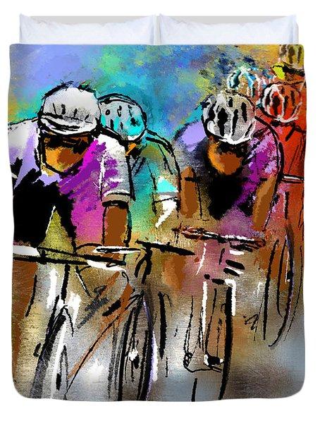 Le Tour De France 03 Duvet Cover by Miki De Goodaboom