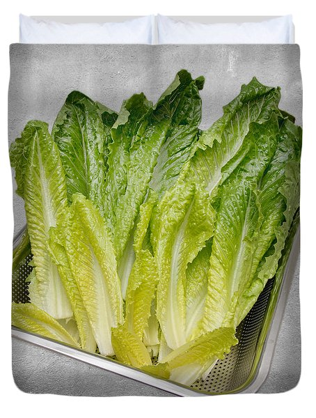 Leaf Lettuce Duvet Cover by Andee Design