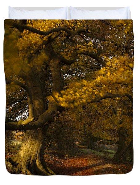 Leafy Lane Duvet Cover by Anne Gilbert