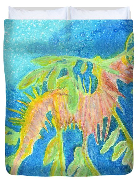 Leafy Seadragon Duvet Cover by Tanya Hamell
