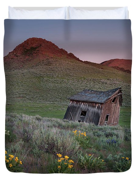 Leaning Shed Duvet Cover by Leland D Howard