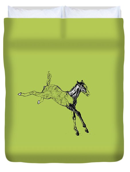 Leaping Foal Duvet Cover by JAMART Photography