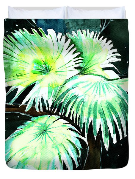 Leaves Duvet Cover by Anil Nene