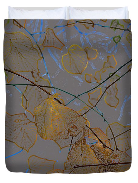 Leaves Duvet Cover by Carol Lynch
