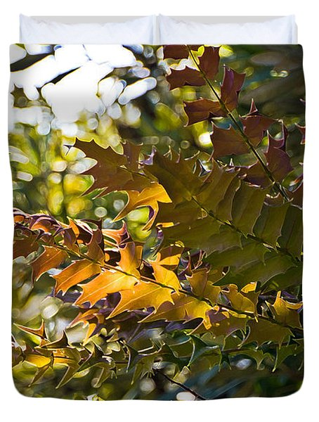 Leaves Duvet Cover by Kate Brown