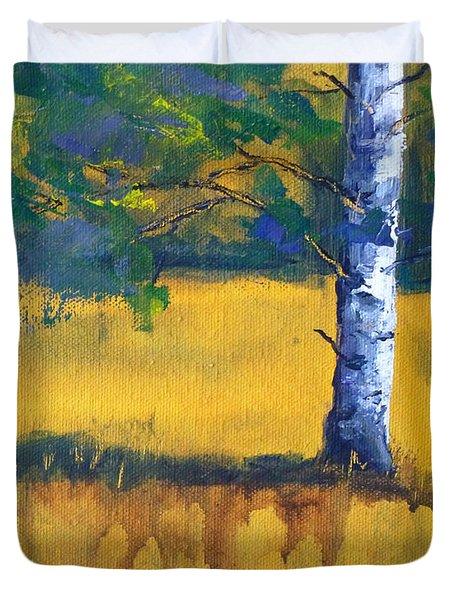 Leaving A Shadow Duvet Cover by Nancy Merkle