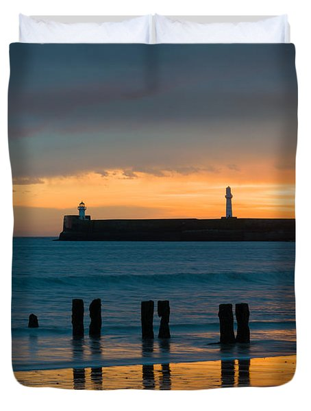 Leaving Port Duvet Cover by Dave Bowman