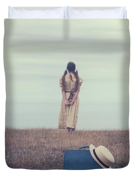 Leaving The Past Behind Me Duvet Cover by Joana Kruse