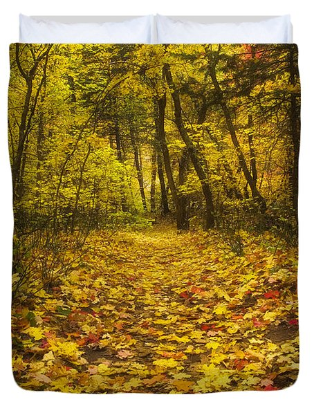 Leaving the Way Duvet Cover by Peter Coskun