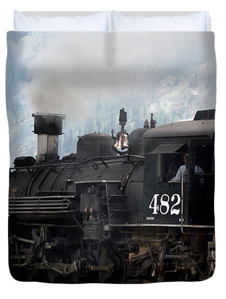 Leaving Town Duvet Cover by Ernie Echols