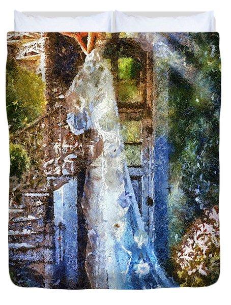 Leaving Wonderland Duvet Cover by Mo T
