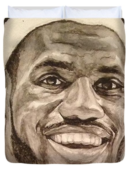 Lebron James Duvet Cover by Tamir Barkan