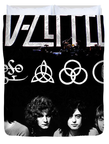 Led Zeppelin Duvet Cover by FHT Designs