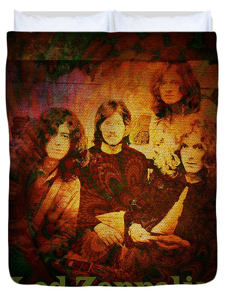 Led Zeppelin - Kashmir Duvet Cover by Absinthe Art By Michelle LeAnn Scott