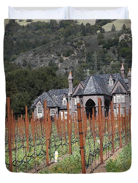 Ledson Winery and Vineyard in Late Winter Just Before The Bloom 5D22192 Duvet Cover by Wingsdomain Art and Photography