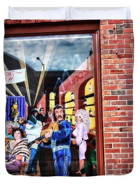 Legends Bar In Downtown Nashville Duvet Cover by Dan Sproul