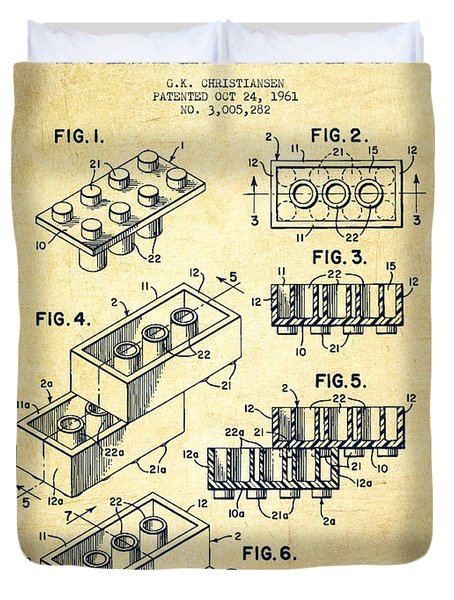 Lego Toy Building Brick Patent Vintage Drawing By Aged Pixel