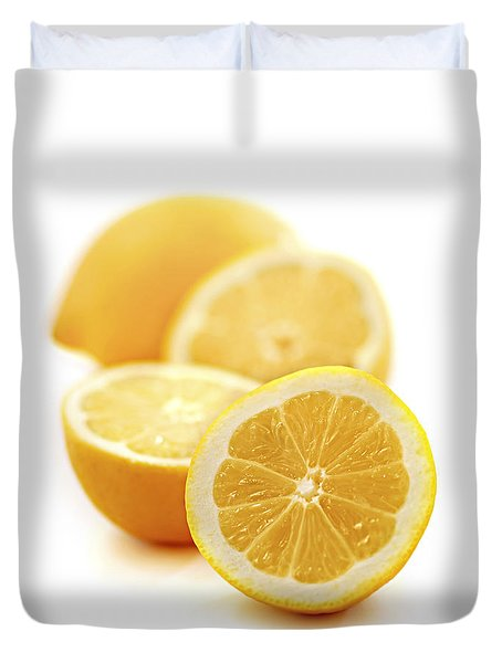 Lemons Duvet Cover by Elena Elisseeva