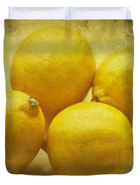 Lemons Duvet Cover by Nomad Art And  Design