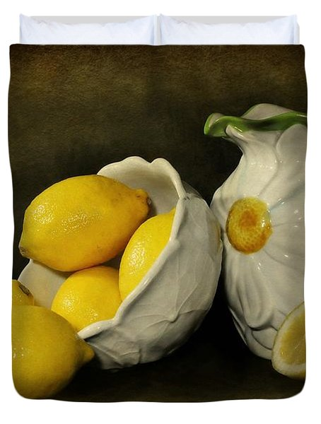 Lemons Today Duvet Cover by Diana Angstadt
