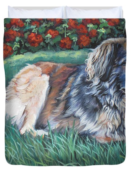 Leonberger Duvet Cover by Lee Ann Shepard