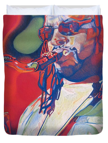 Leroi Moore Colorful Full Band Series Duvet Cover by Joshua Morton