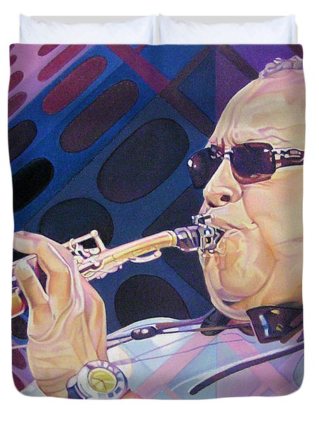 Leroi Moore Duvet Cover by Joshua Morton