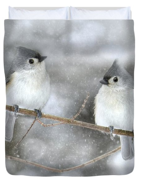 Let It Snow Duvet Cover by Lori Deiter