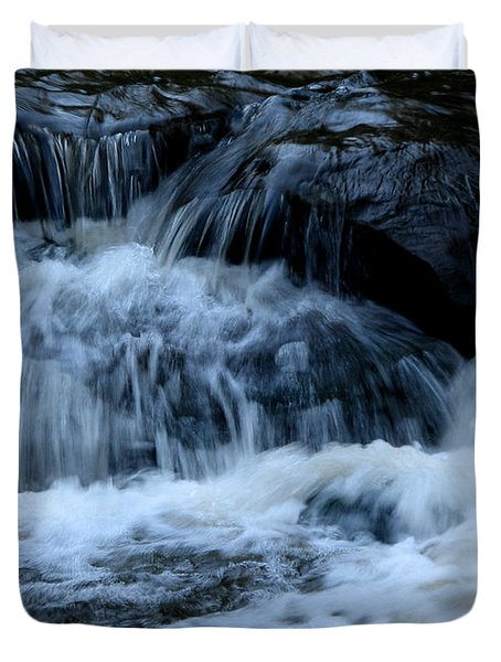 Letchworth State Park Genesee River Cascades Duvet Cover by Rose Santuci-Sofranko