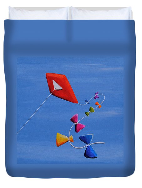 Let's Go Fly A Kite Duvet Cover by Cindy Thornton