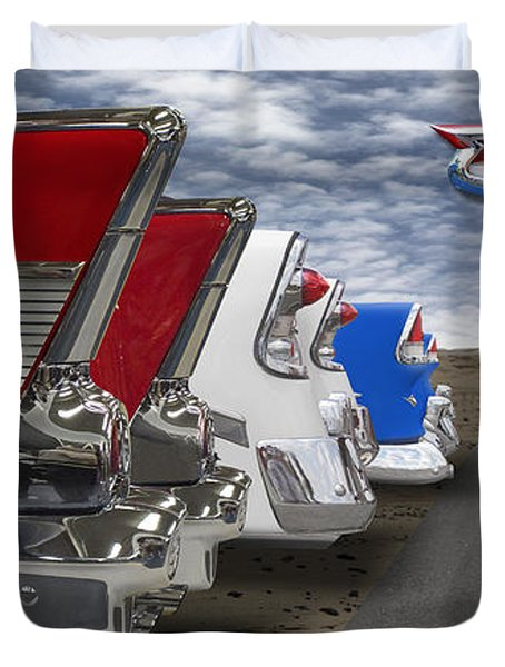 Lets Hear It For The Red White And Blue Duvet Cover by Mike McGlothlen