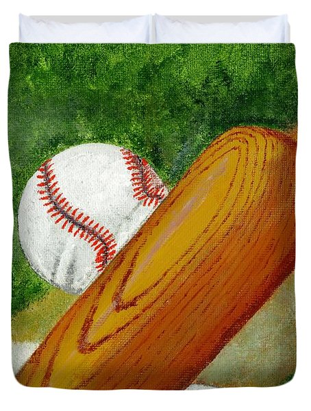 Let's Play Ball Duvet Cover by Declan Leddy