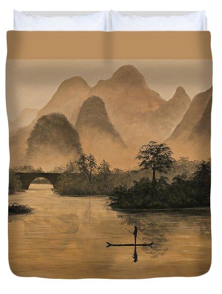 Li River China Duvet Cover by Darice Machel McGuire