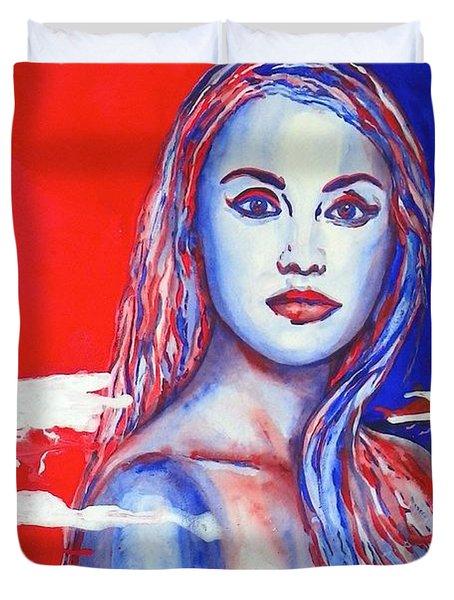 Liberty American Girl Duvet Cover by Anna Ruzsan