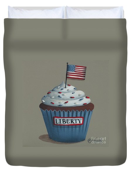 Liberty Cupcake Duvet Cover by Catherine Holman