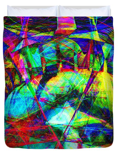 Liberty Head Abstract 20130618 Long Duvet Cover by Wingsdomain Art and Photography