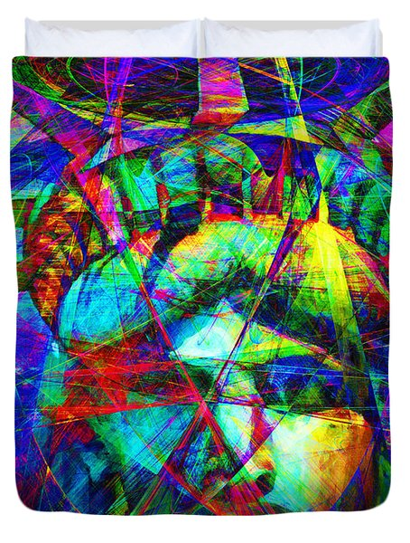 Liberty Head Abstract 20130618 Duvet Cover by Wingsdomain Art and Photography