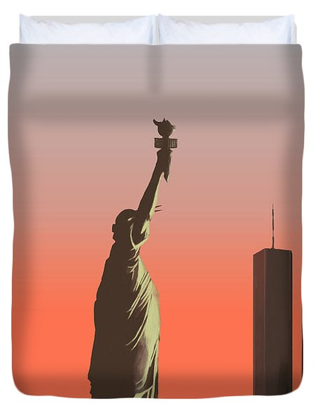 Liberty Duvet Cover by Mike Linman