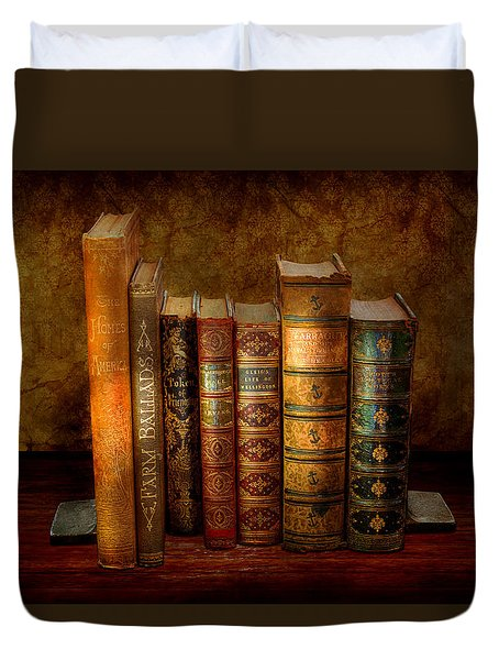 Librarian - Writer - Antiquarian Books Duvet Cover by Mike Savad