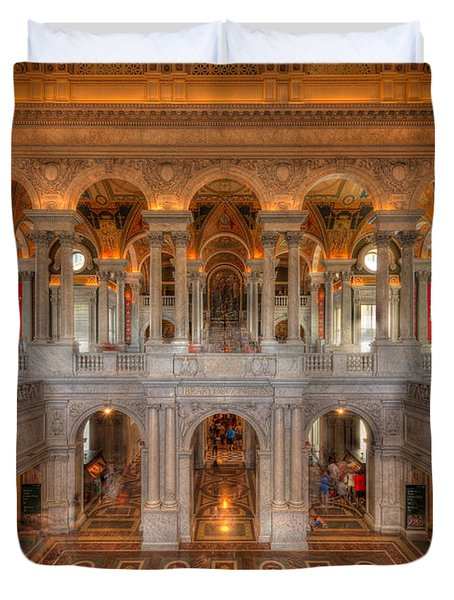 Library Of Congress Duvet Cover by Steve Gadomski